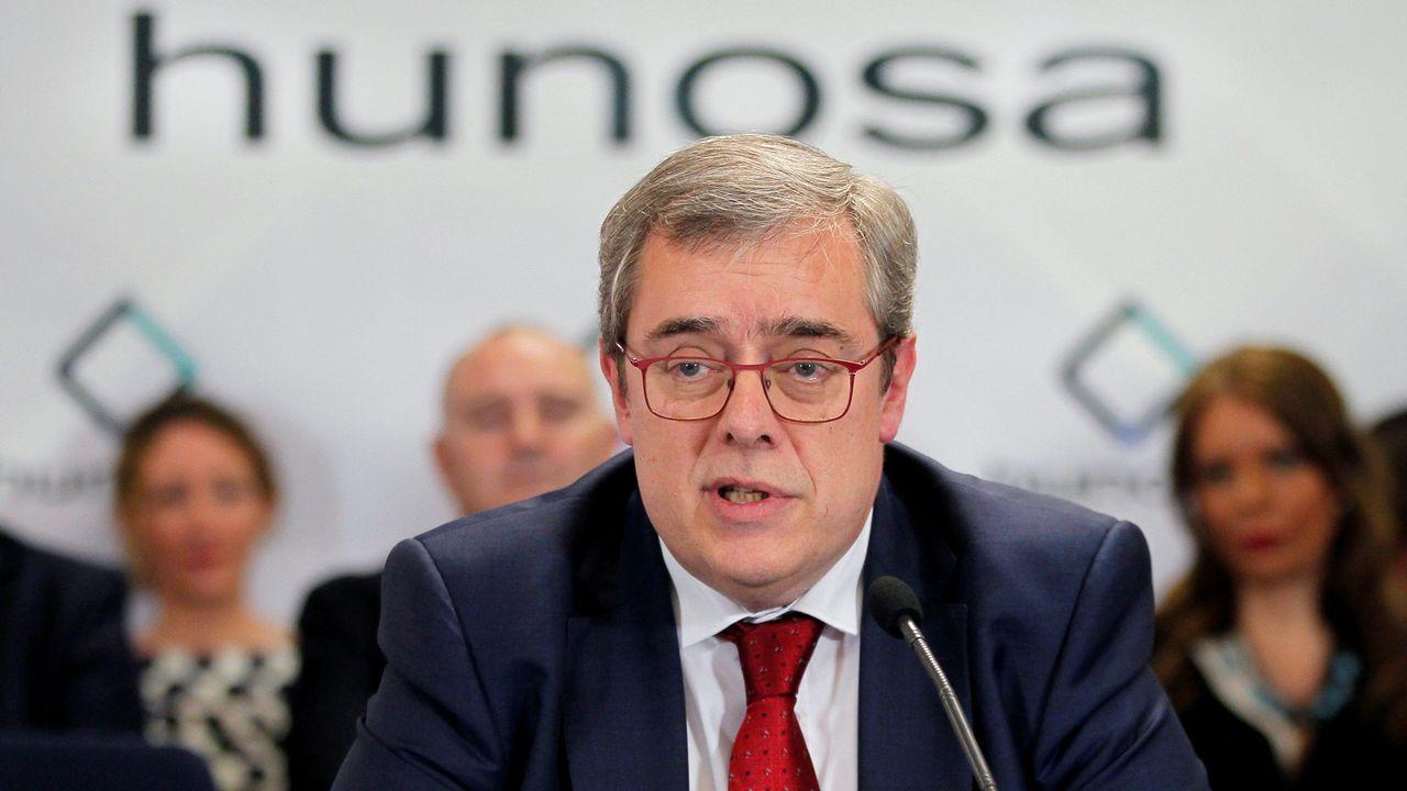 El presidente de Hunosa, Gregorio Rabanal