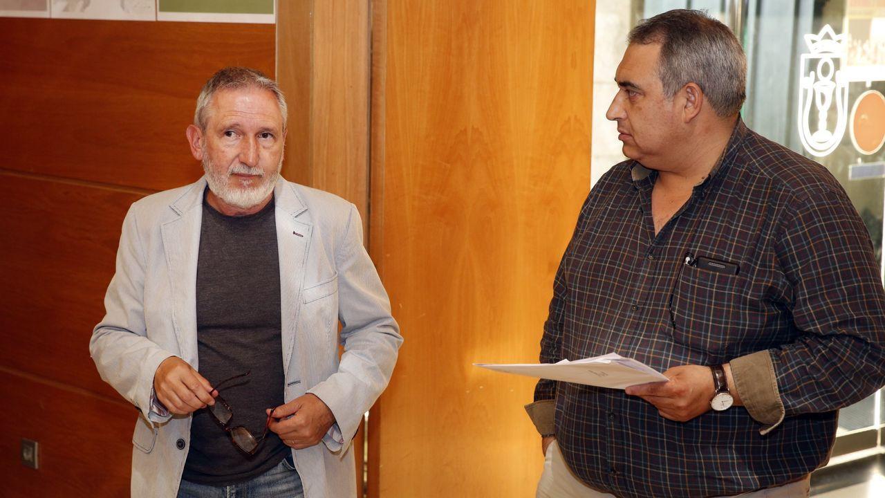 Manuel Cañete, nuevo presidente de la Federación de Asociaciones Vecinales de Gijón, en la sede de la asociación del Polígono