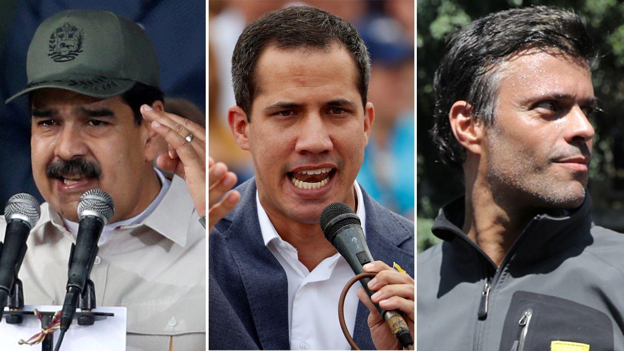 Guaidó: «Espero que la democracia española sea fuerte para hacer frente a la dictadura de Maduro».El secretario de Estado estadounidense, Mike Pompeo