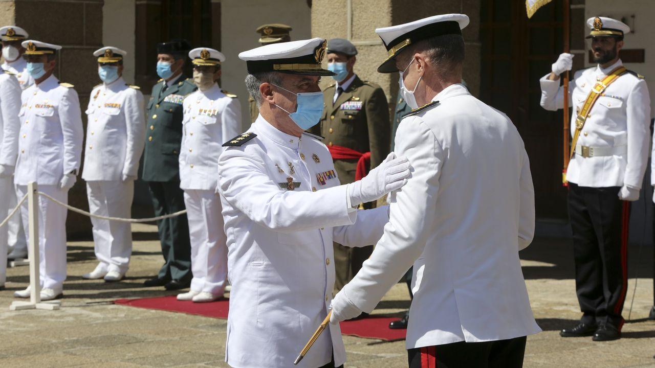 Toma de mando del coronel Sanz Alisedo al frente del Tercio Norte en Ferrol