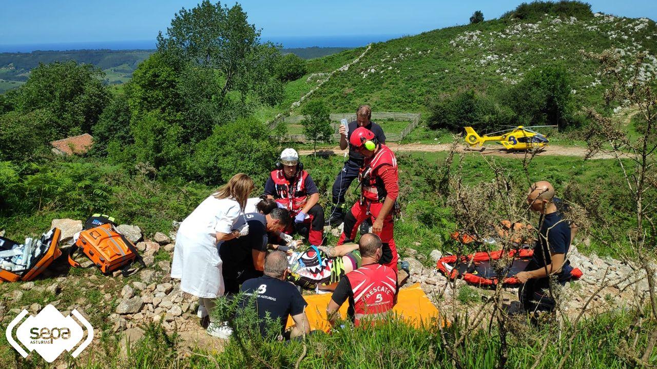 Accidente de quad en Ribadedeva