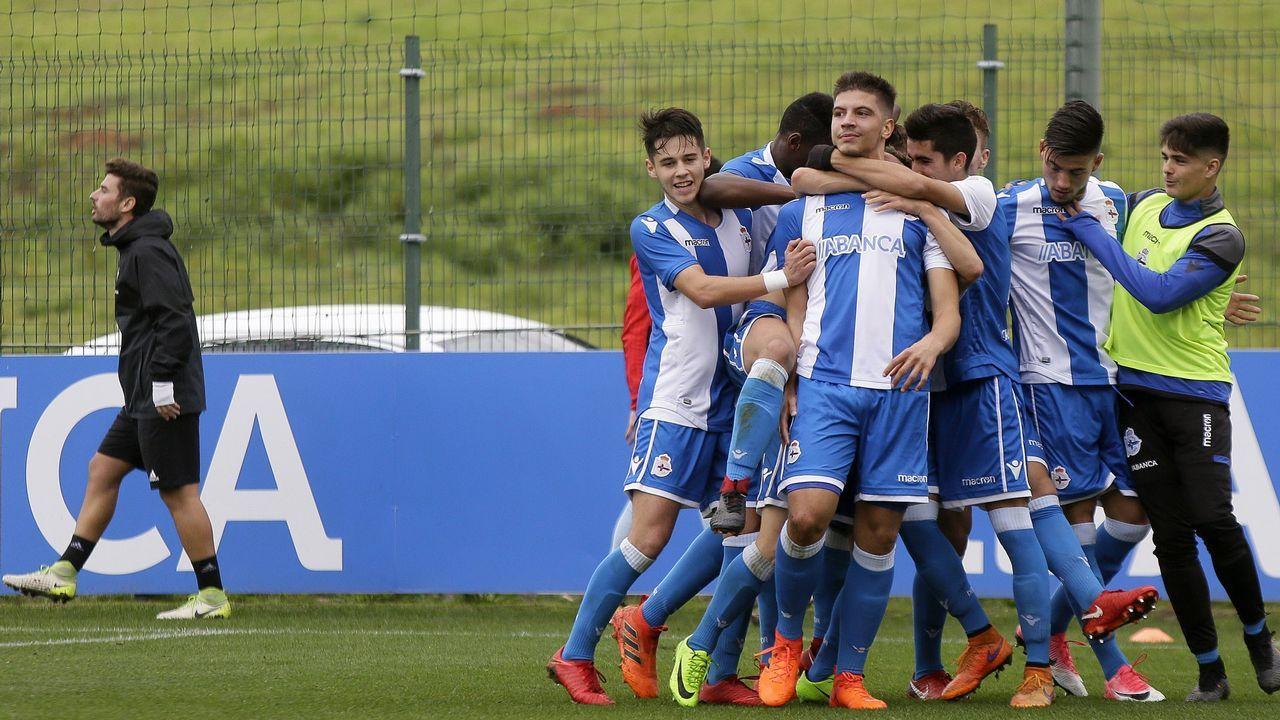 Las mejores imágenes del Fabril - Celta B.Deportivo juvenil