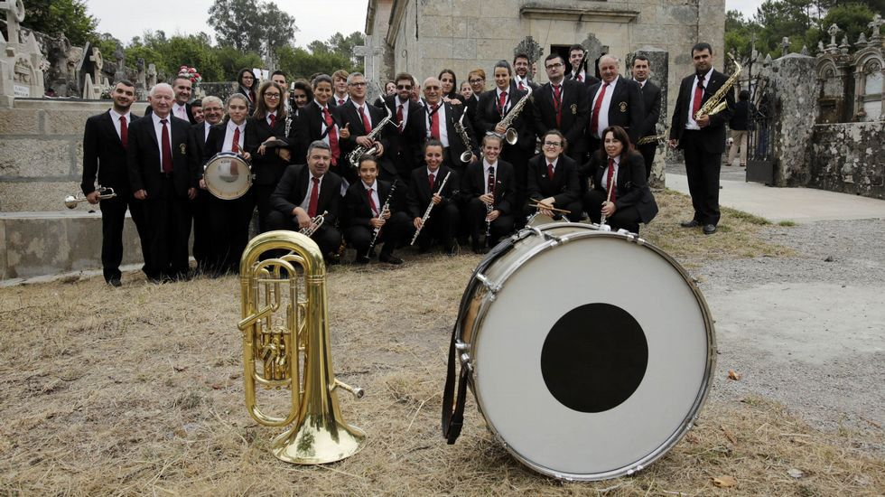 La Banda de Música de Celanova ensaya en la Casa da Música