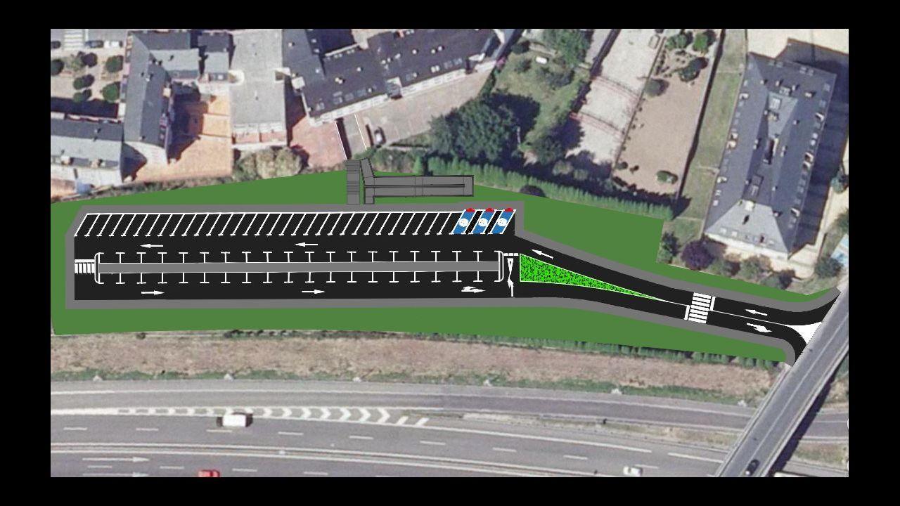 Vecinos de la Costa da Tapia quieren irse a Oleiros.Zona de Bastiagueiro en la que se va a instalar una pista de patinaje de velocidad.