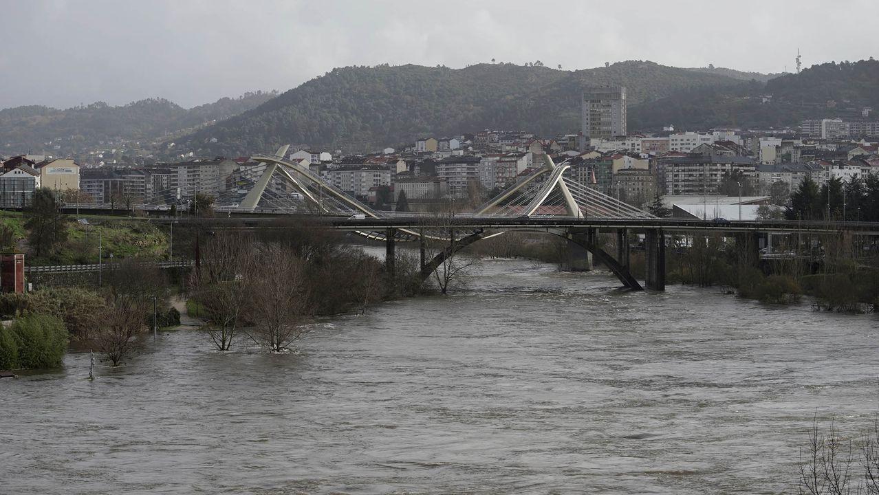 Inundaciones en Ourense durante la borrasca Fabien