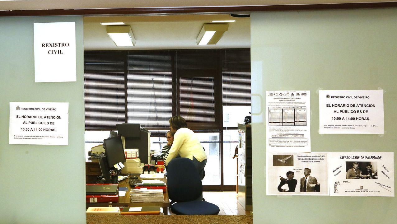 El Registro Civil de los juzgados de Viveiro, en una imagen de archivo