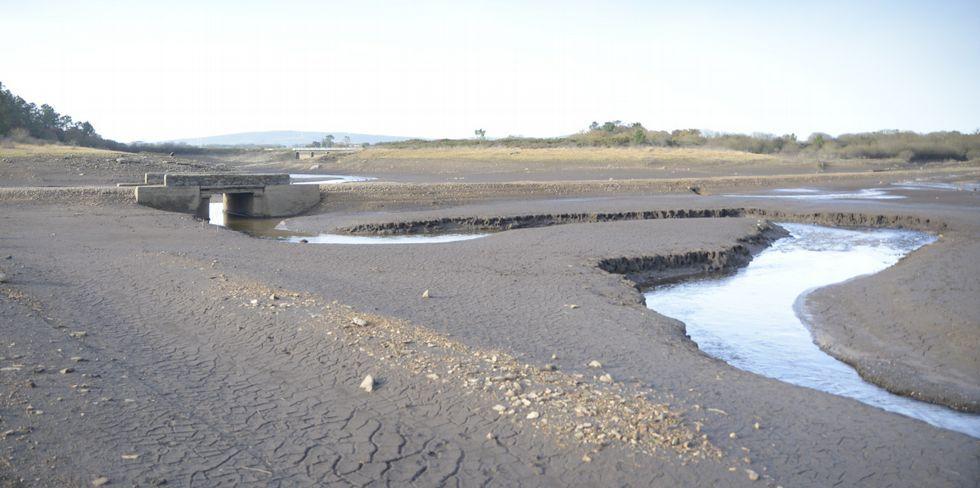 Molino de la aldea de A Viña, en Taboada, una de las que quedaron al descubierto en el 2011.