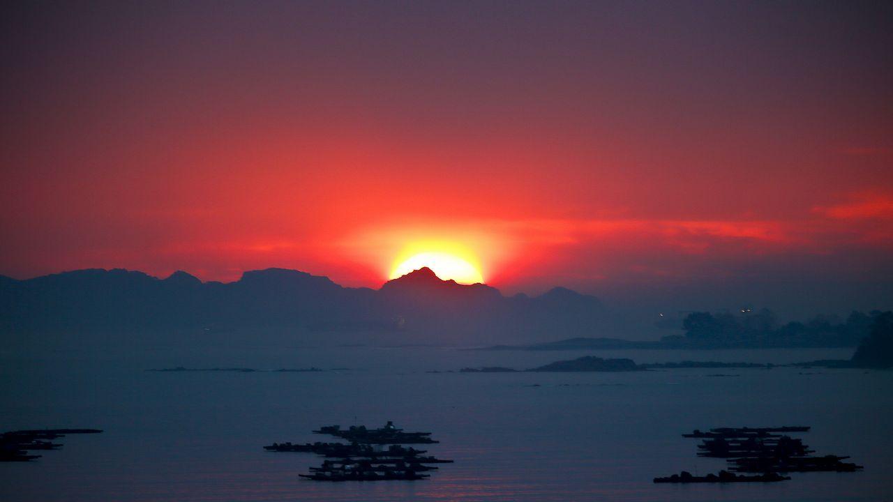 Puesta de sol el pasado 19 de noviembre en Vigo