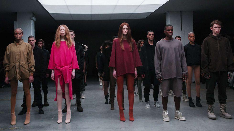 Semana de la Moda.Desfile de Adidas de una colección en la que colaboró el rapero Kanye West