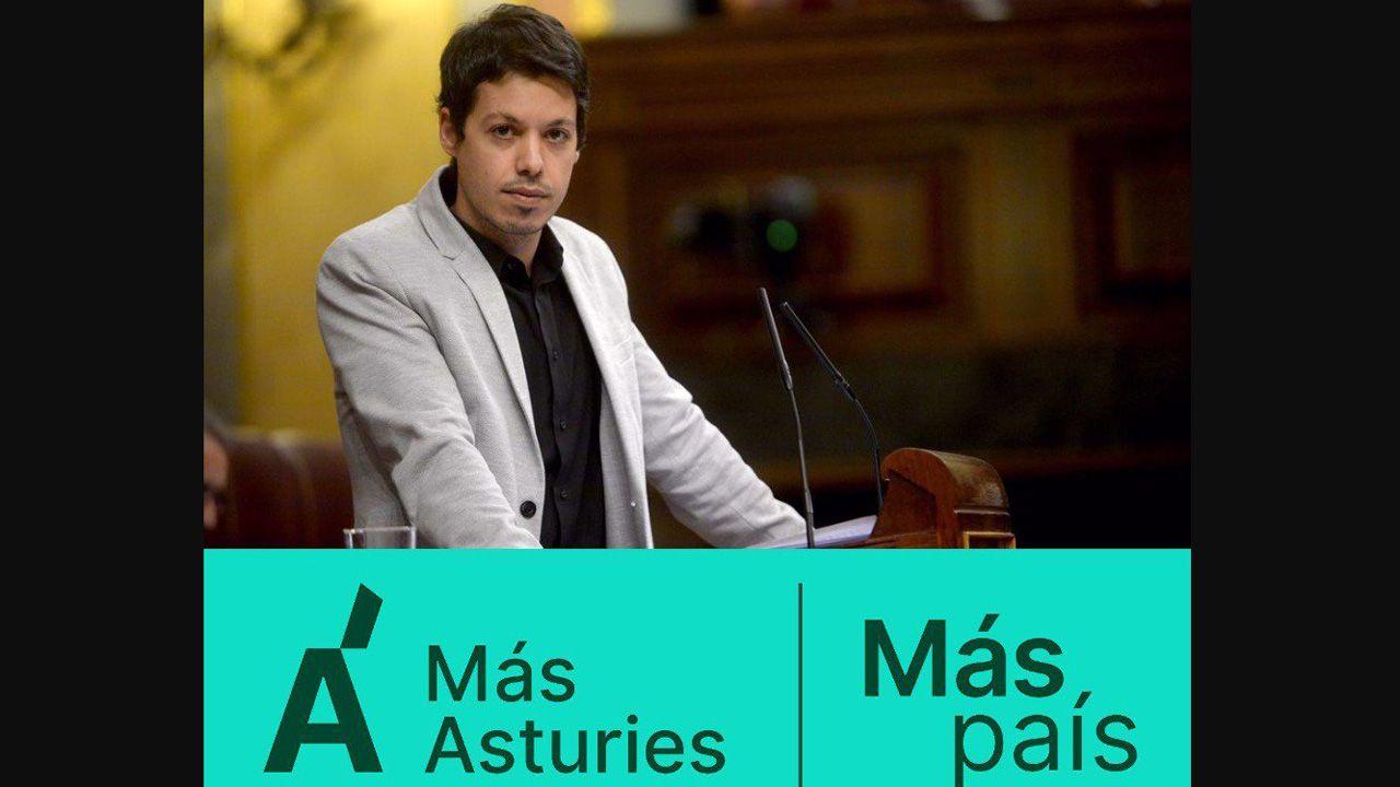 Obras en la variante de Pajares.Segundo González será el candidato de Más Asturies