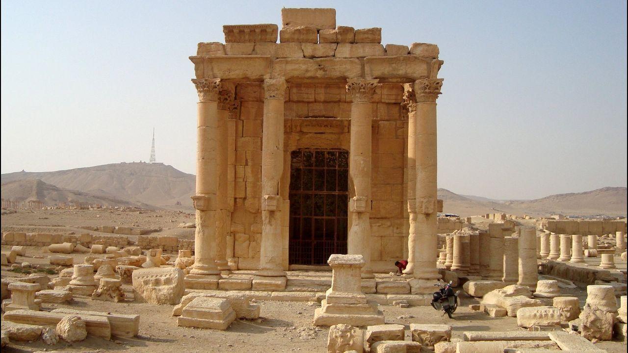 Vista general del templo de Baal Shamin