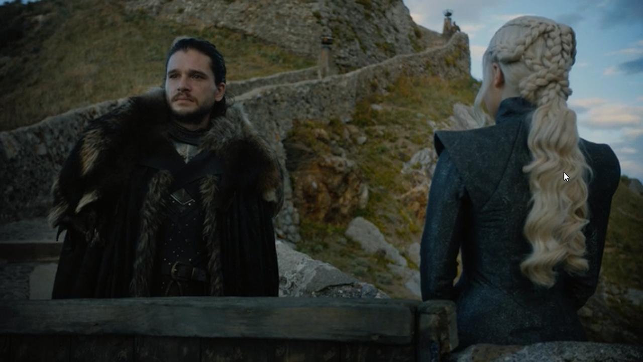 Jon Nieve y Daenerys en el episodio 7x03 de Juego de Tronos