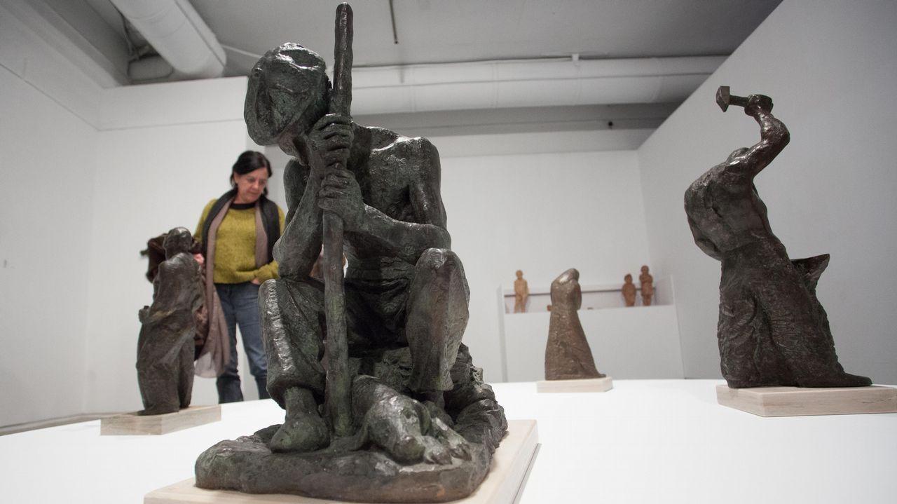 Exposición del escultor valenciano y mindoniense de adopción Juan Puchades Quiles en el Museo Provincial de Lugo