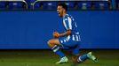 Alberto Quiles celebra su gol ante el Celta B