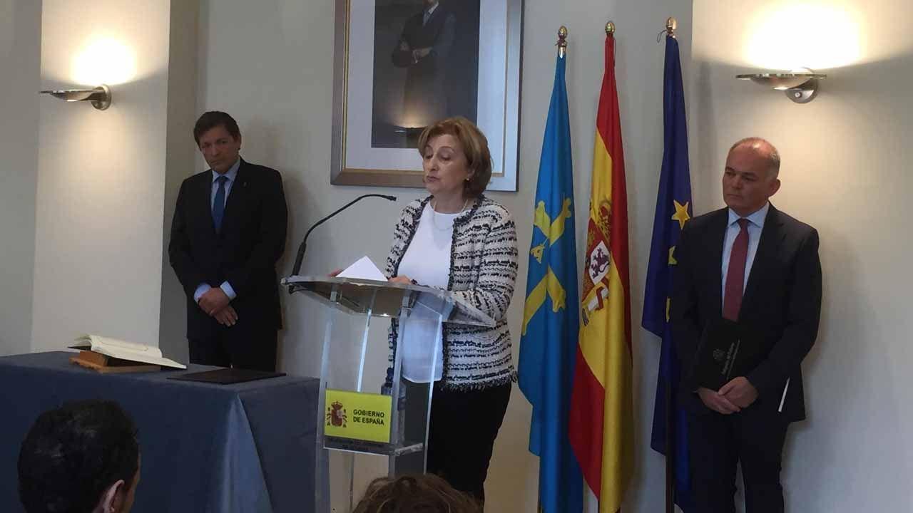 Delia Losa toma poseisón de su cargo como delegada de Gobierno