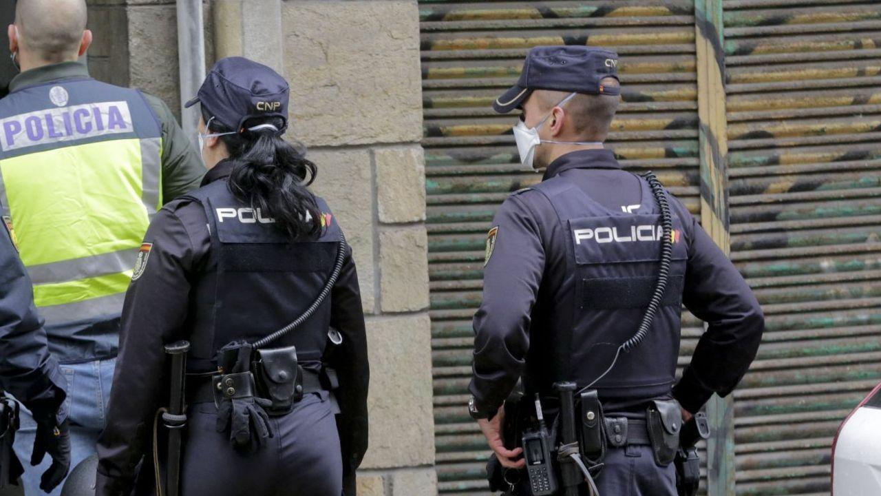 Imagen de archivo de una intervención de la Policía Nacional