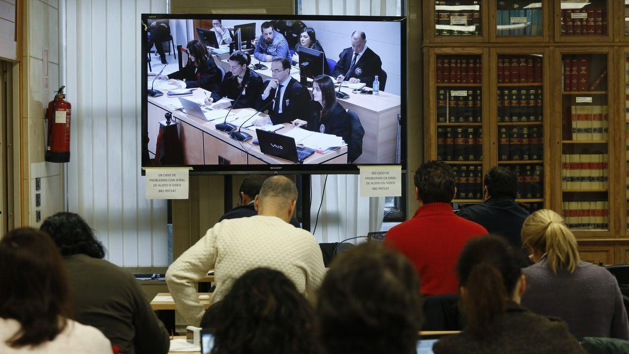 Sexta jornada del juicio en la sala de prensa