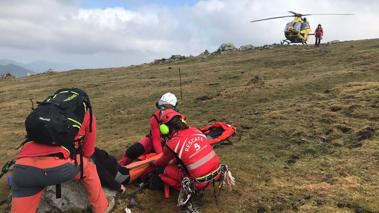 Servicios de rescate en Nava