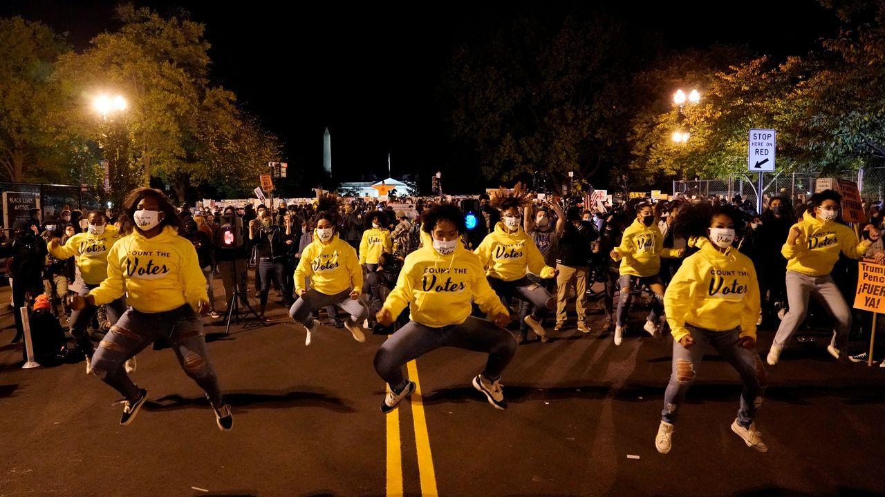Ambiente festivo en las calles de Washington