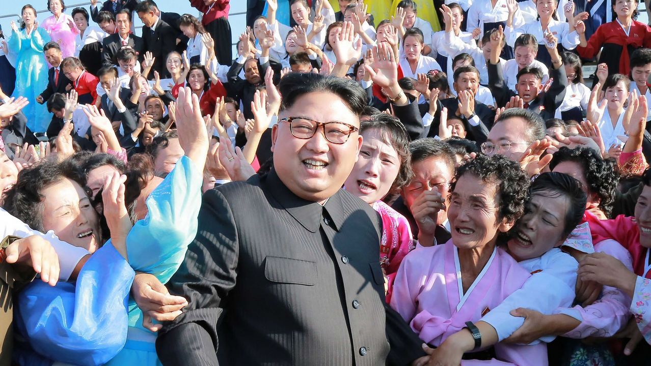 La bochornosa broma de Intereconomía sobre bombardear Barcelona.Kim Jong-un, en una foto facilitada por el régimen de Piongyang