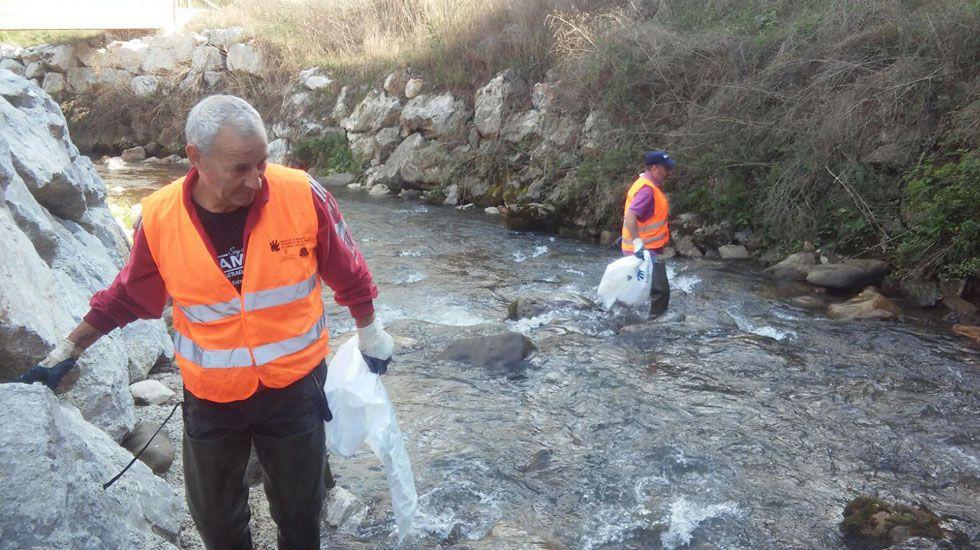 Limpieza del río Riosa.Limpieza del río Riosa
