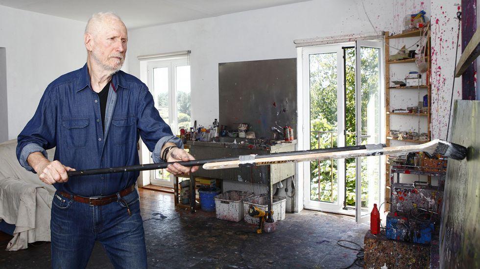 Detlef Kappeler, en su estudio en Chorente (Muxía)