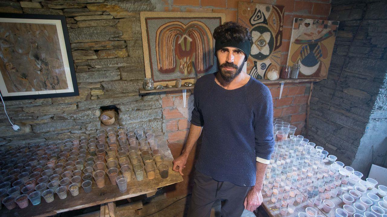 Armiche Bello, alquimista canario asentado en Galicia.Santa Cruz de Tenerife