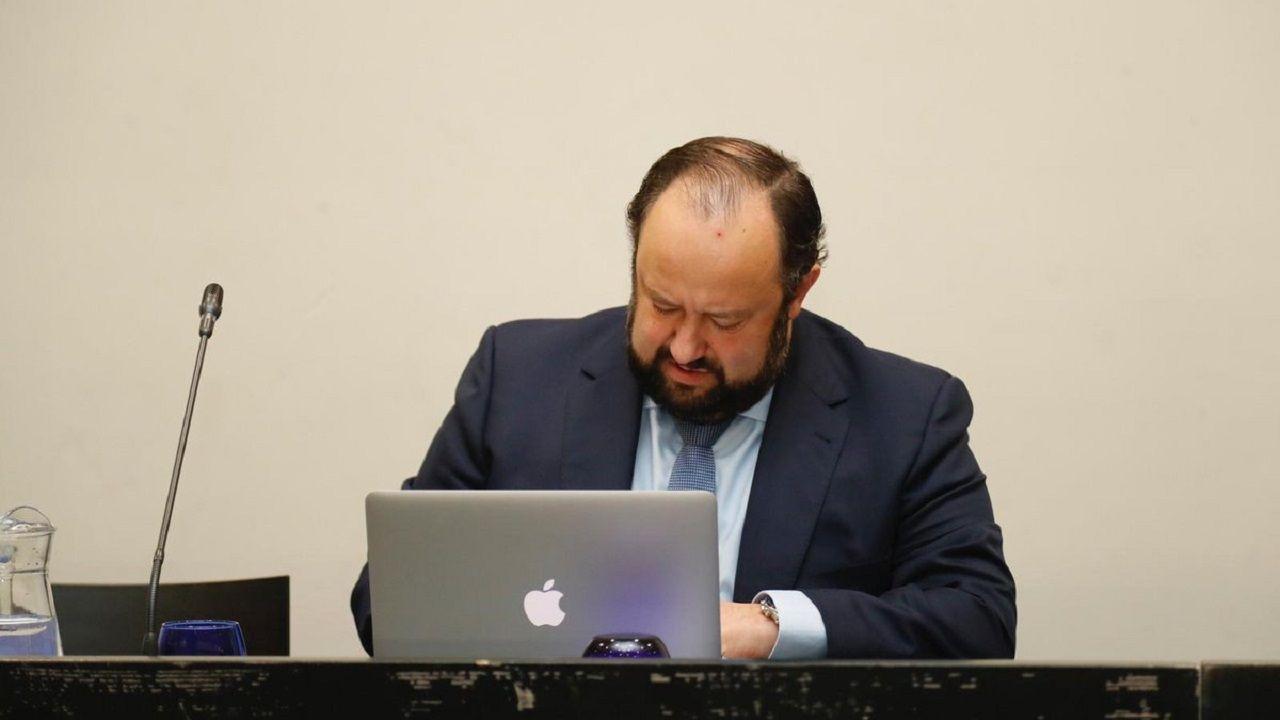 Jorge Menéndez Vallina en la Junta de Accionistas