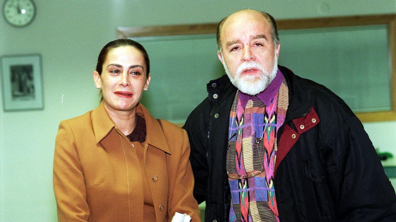 Con Carmela Silva a finales del 98