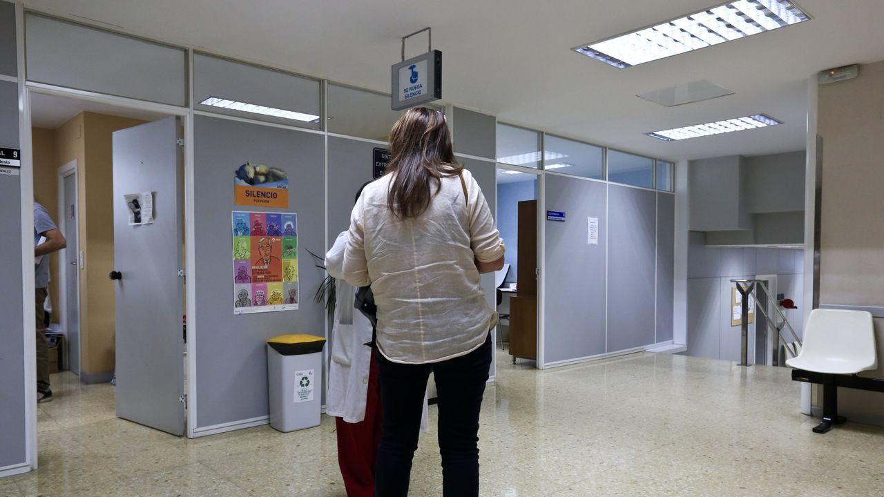 Interior del centro de salud del Sagrado Corazon