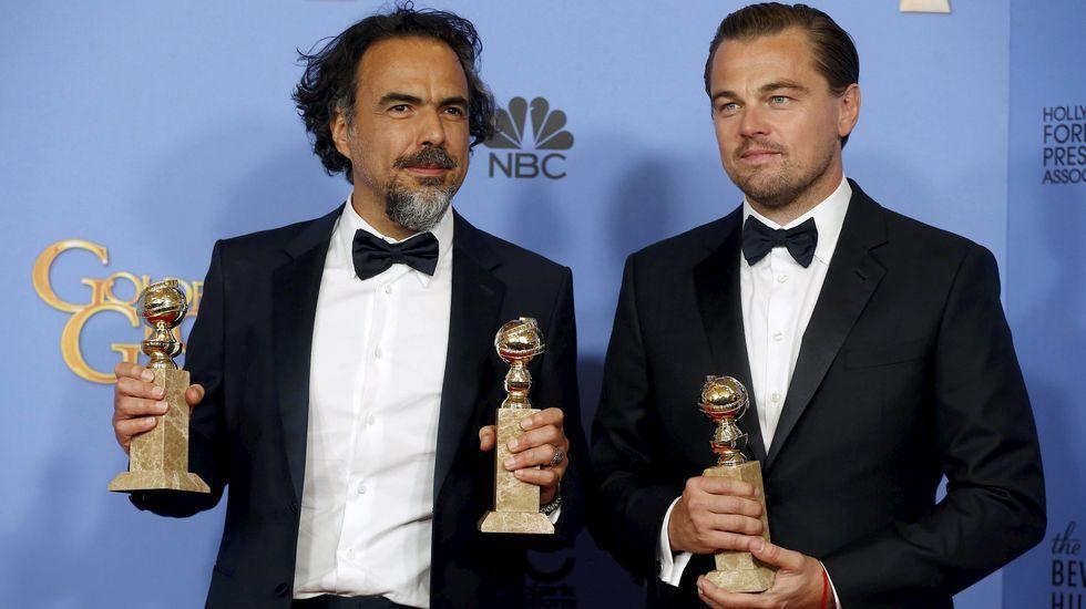 La gala del Sindicato de Actores en Estados Unidos.Alejandro González Iñárritu y Leonardo Dicaprio lucen los tres Globos de Oro por «El Renacido»
