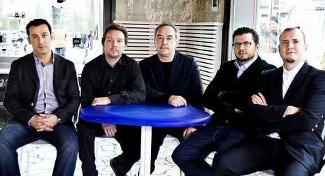 Borja Iglesias, Albert y Ferran Adrià, y Juan Carlos y Pedro Iglesias.