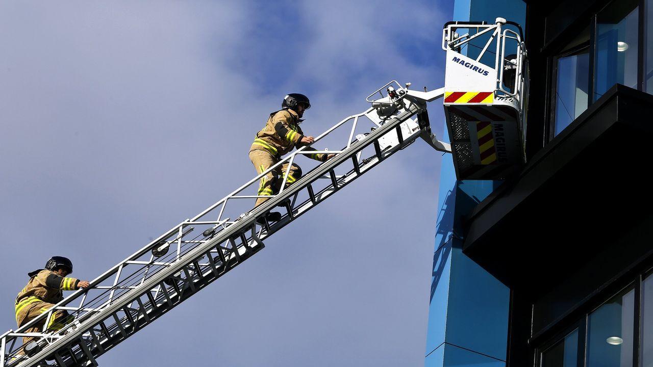 Los bomberos de Vigo, en imagen de archivo