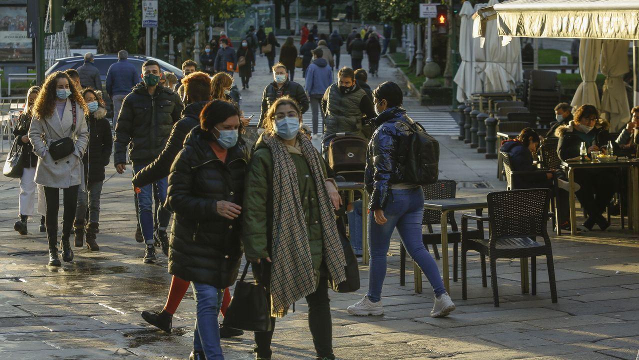 Ambiente en la calle en Santiago el 16 de diciembre
