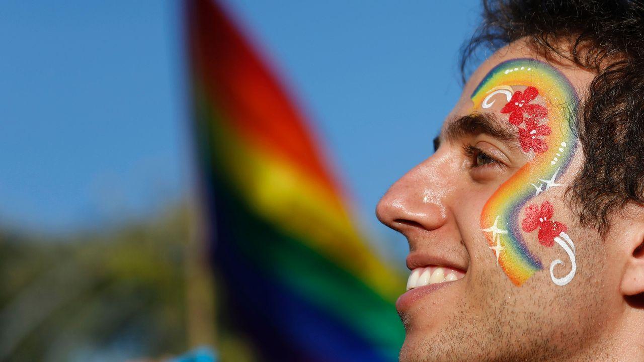 El Orgulllo 2021 en Madrid: sin carrozas pero con mucha reivindicación.Un participante del desfile anual del Orgullo Gay en Jerusalén