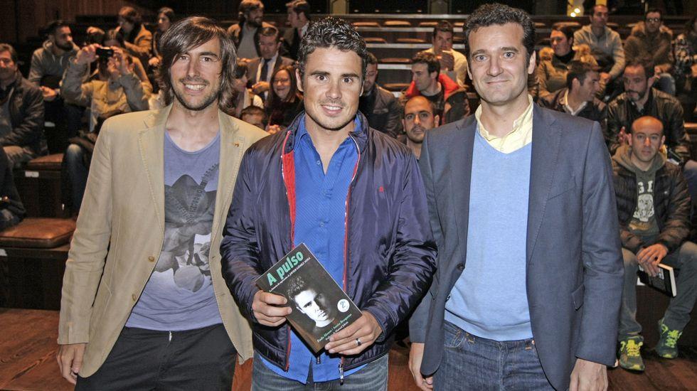 Ameixeiras, no centro da imaxe, na presentación en Ourense