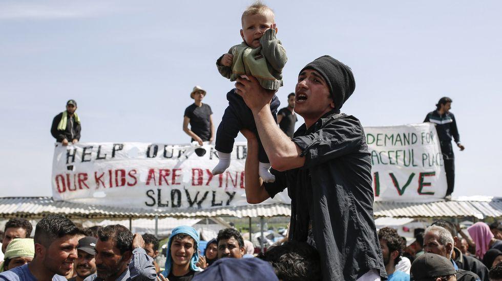 La tensión en Idomeni, en imágenes