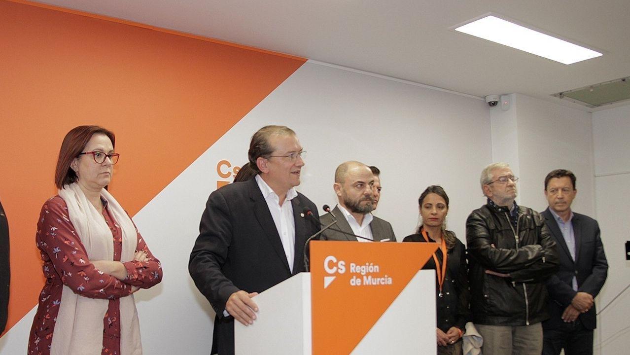 Miguel Garaulet, en su intervención tras los resultados de la elecciones del 10N