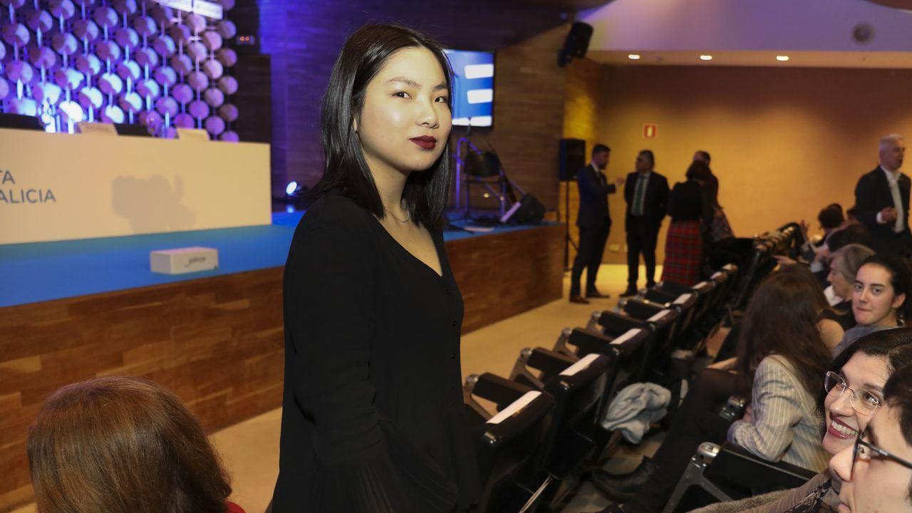 Zoe Ling Cendón habló en nombre de los premiados