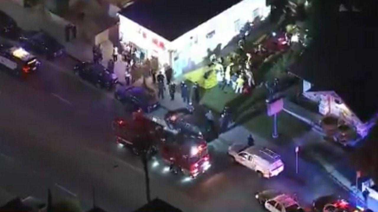Captura de vídeo en la que se muestra el lugar del tiroteo