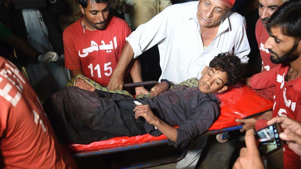 Atentado en Pakistán.Restos del atentado