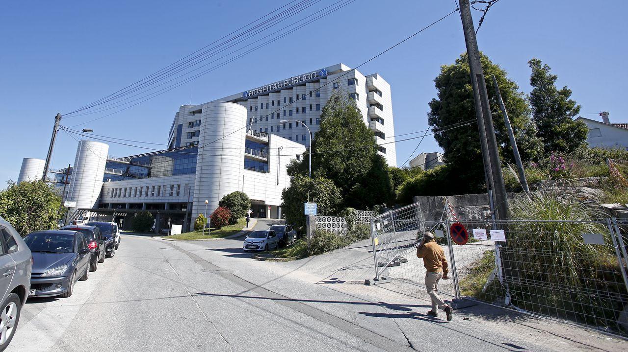 En el hospital Montecelo, de Pontevedra, hay este lunes 13 pacientes covid en planta y 9 graves en la uci