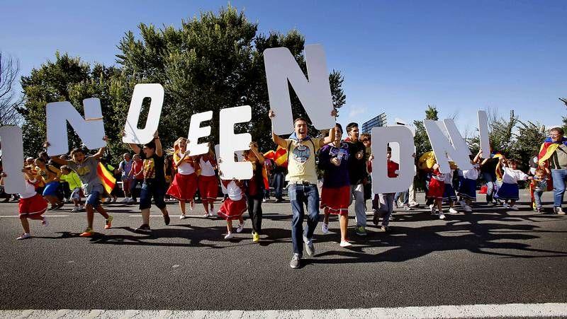 Diferentes actos durante la Diada de Cataluña