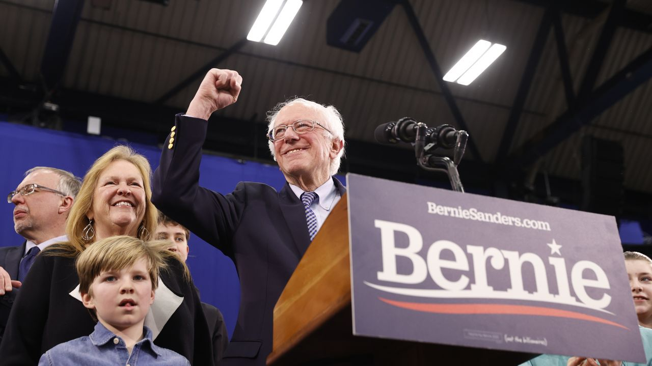 Bernie Sanders en New Hampshire
