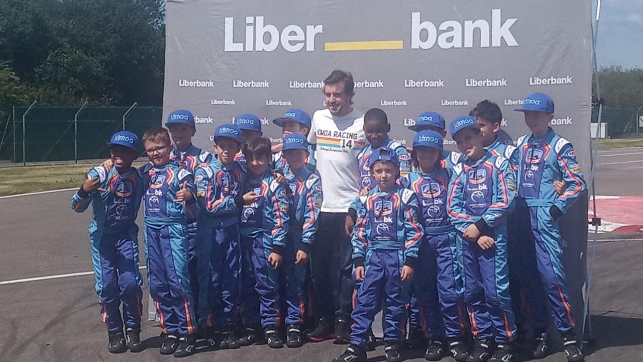 Fernando Alonso en el Museo Circuito del piloto