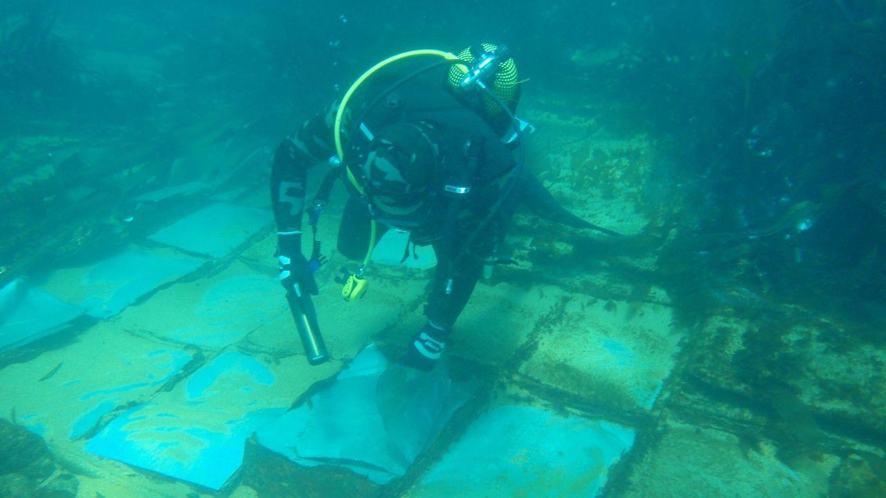 El equipo de Buceo Finisterre logró capturar imágenes subacuáticas de los restos del navío