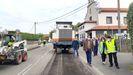 Obras en la carretera de Quintueles, Villaviciosa