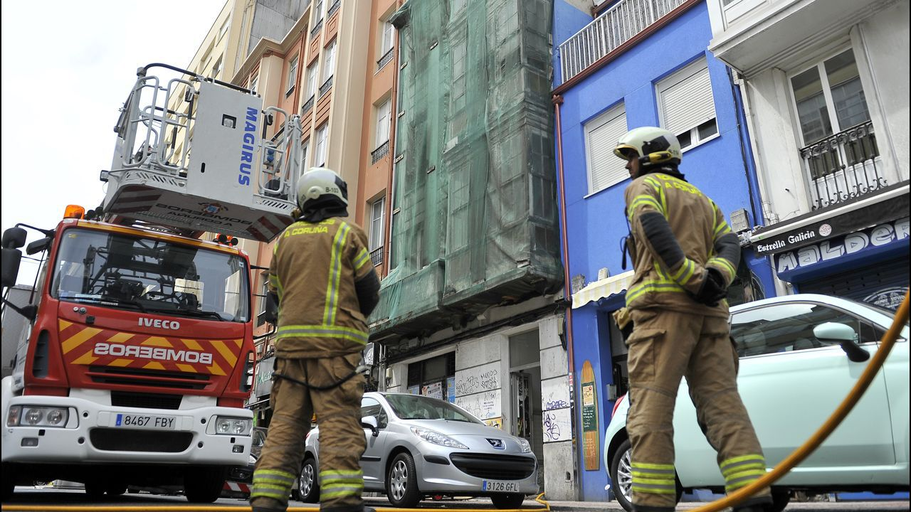 Incendio en la casa okupa de la calle San Juan.