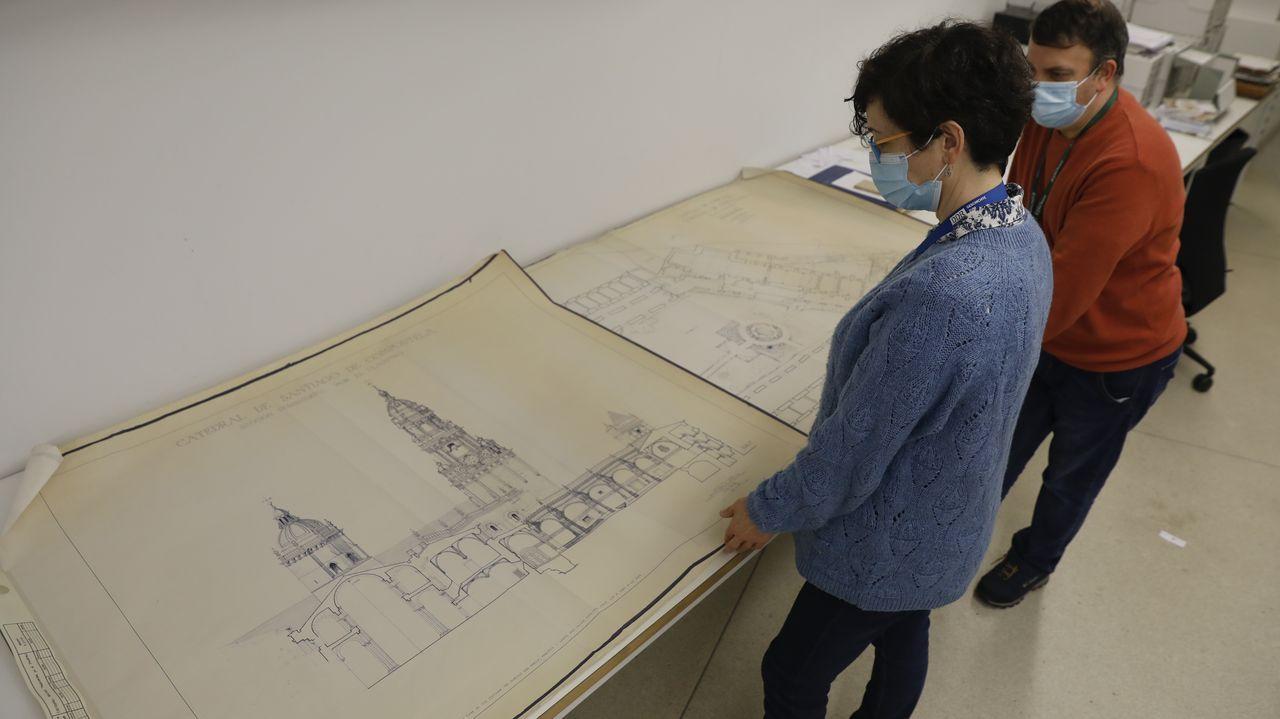 Planos de la Catedral de Santiago, en el Gaiás