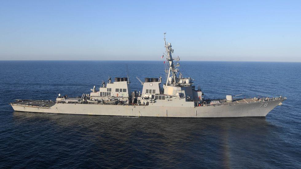 Imagen del USS Porter desde donde se lanzó el ataque estadounidense sobre Siria